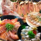 のどぐろ入り日本海の干物と漬け丼と昆布じめ丼セット松