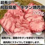 【ふるさと納税】KA15超希少鳥取県産牛タン700g