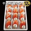 【ふるさと納税】A-117 干し柿「雪んこ」12個入り
