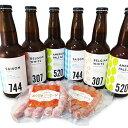 【ふるさと納税】石見麦酒6本とまる姫ポークソーセージ2個の詰合せ Aセット 【お酒・ビール・お肉】