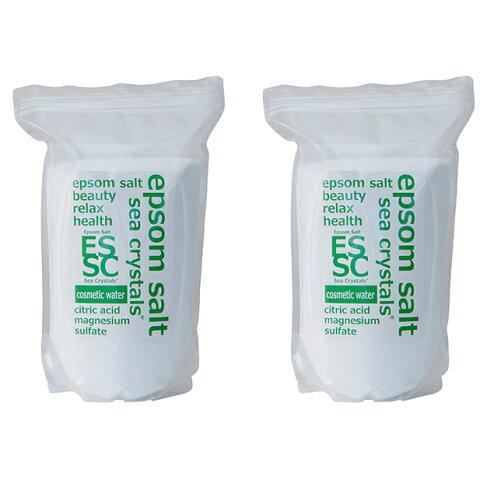 【ふるさと納税】エプソムソルト シークリスタルス コスメティックウォーター 8kg(4kg×2) 【入浴剤・美容・美容】