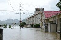 浸水した中学校
