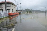 河川の氾濫により浸水した家屋