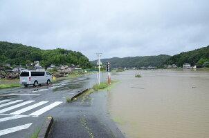 水田地帯にも浸水が
