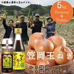 【ふるさと納税】玉ねぎサラダセット(玉ねぎ5kgとドレッシング2本)