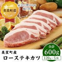 【ふるさと納税】A-12ローステキカツ(120g×5枚)【美星町産豚肉】