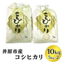 【ふるさと納税】米10kg白米R-01井原市産コシヒカリ