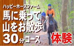【ふるさと納税】DD-55 馬に乗って山をお散歩30分コースチケット