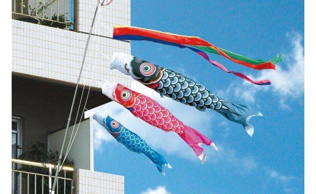 こいのぼり 1.5m友禅鯉ファミリーセット イメージ