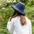 【ふるさと納税】天然ラフィア手編み大つばセーラー帽子