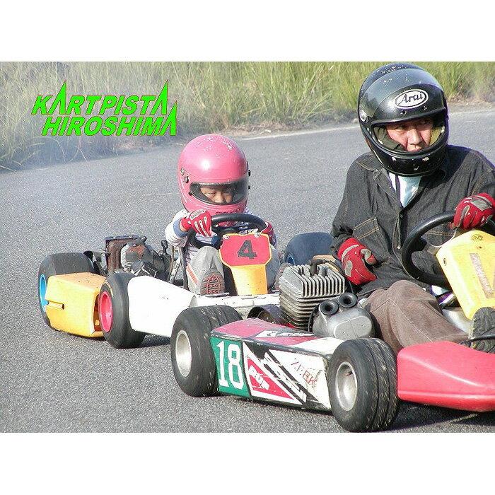 【ふるさと納税】【カートピスタヒロシマ】レンタルカート 親子体験(2台・燃料2L)