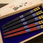 01D-094【ふるさと納税】【伝統工芸品】大内塗箸5膳セット