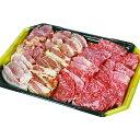 【ふるさと納税】厚いだんらん池熟選和牛の牛・豚・鳥焼肉セット(B-1)※発送日を10日または25日からお選びください