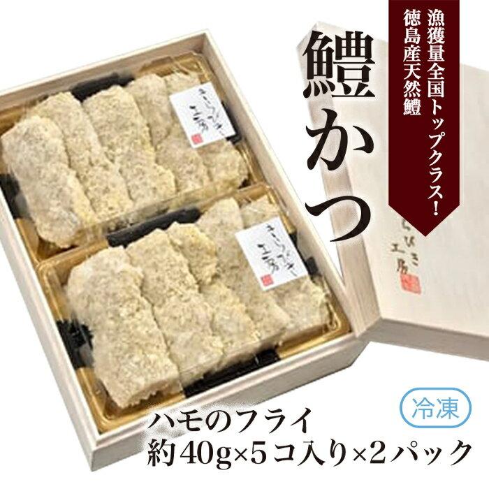 A005a [漁獲量全国トップクラス!徳島産天然鱧]冷凍 鱧かつ(5×2パック)