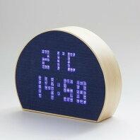 【ふるさと納税】D015aしじら檜 置時計 藍無地
