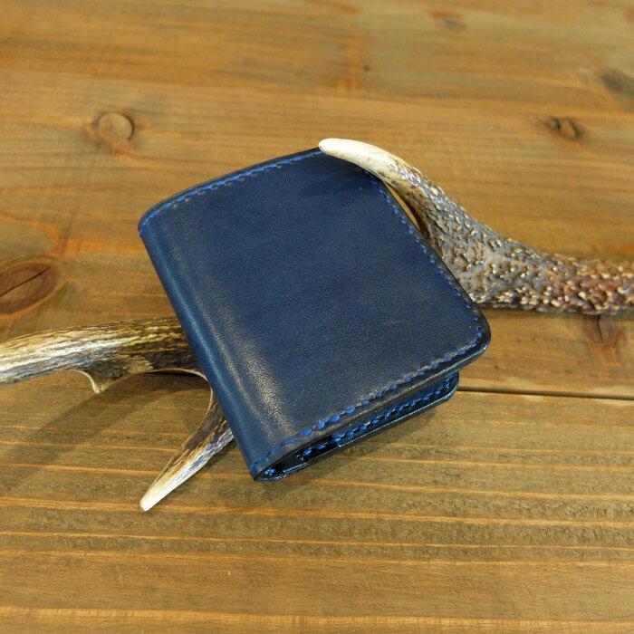 【ふるさと納税】H010a 阿波レザー「RONIN」本藍染め スモール財布