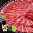 【ふるさと納税】すだちとのベストマッチ!阿波とん豚(スライス)すだちポン酢セット