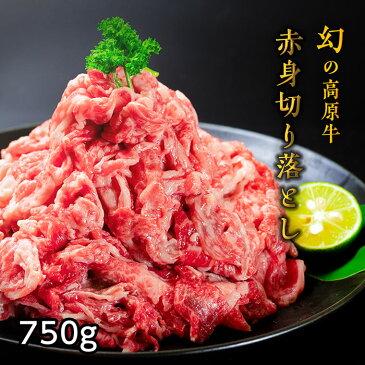 【ふるさと納税】大川原高原牛 赤身切り落とし750g