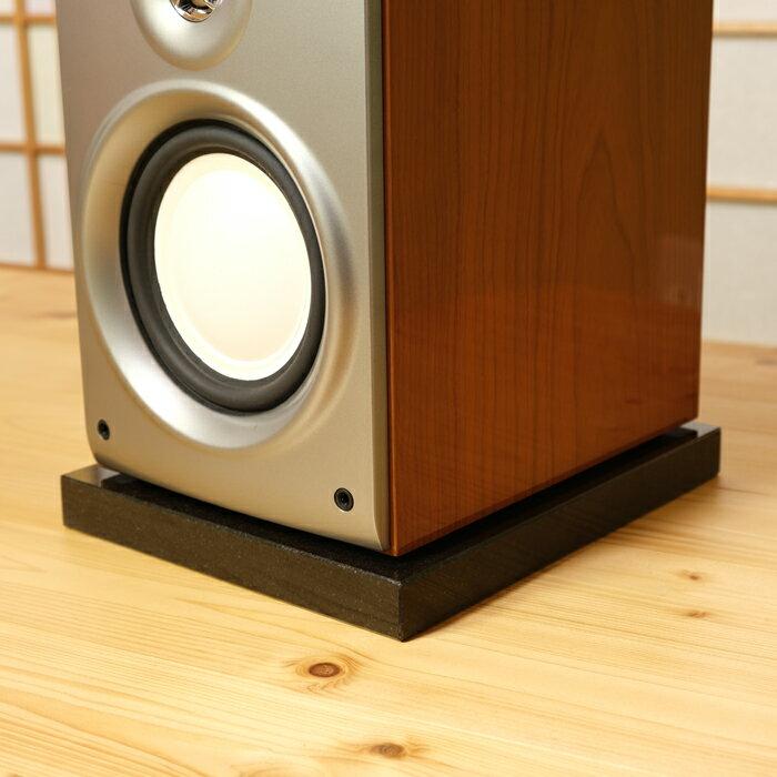スピーカー用 黒御影石オーディオボード 20×25×3cm 2枚 サイズ変更可