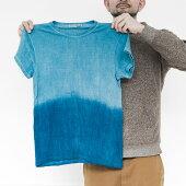 【ふるさと納税】IBB04空海藍ヘンプ×オーガニックコットンTシャツ(Mサイズ・男女兼用)