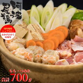 【ふるさと納税】MMT05丸本特製阿波尾鶏塩鍋セットもも・つみれ合計700gセット(2〜3人前)