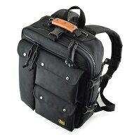 【ふるさと納税】トリプルフロントポケットのスクエアバックパック 【ファッション・カバン・バッグ】