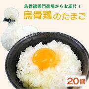 【ふるさと納税】烏骨鶏の卵20個セット