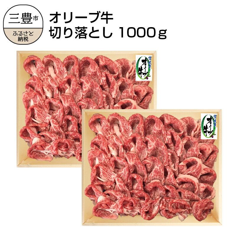 【ふるさと納税】オリーブ牛切り落とし500g×2P