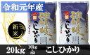【ふるさと納税】983 【令和元年香川県産】讃岐米こしひかり 20kg