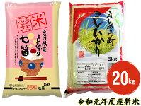 【ふるさと納税】令和元年度産まんのう町のコシヒカリ食べ比べセット20kg