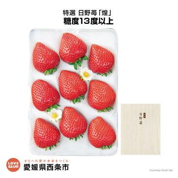【ふるさと納税】<特選 日野苺「煌」(約450g)> ※2019年2月末迄に順次出荷します。 イチゴ いちご 【冷蔵】