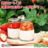 濃厚ないちご味2種類の紅白苺ソース農果プリン90g×6個