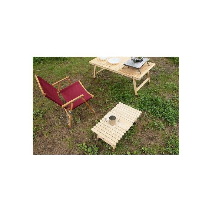 土佐ひのきの折りたたみ キャンプテーブル KUROSONソロ