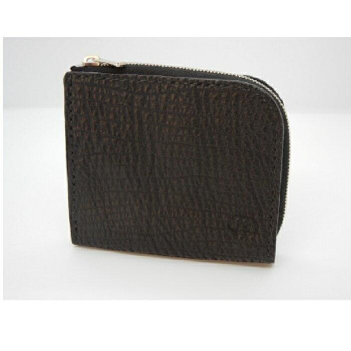 【ふるさと納税】サメ革 L型ファスナー小財布