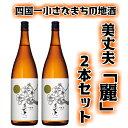 【ふるさと納税】~四国一小さなまちの地酒~ 美丈夫「麗」吟醸 1800ml×2本 毎日飲んでも飽きのこない飲みやすい日本酒です。