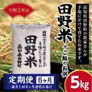 令和2年産田野米5Kg+お供【定期便】