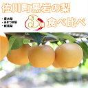 【ふるさと納税】佐川の梨 3種食べ比べセット【期間・数量限定...
