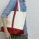 【ふるさと納税】[0434]isaIB006帆布トートバッグ〔大〕ホワイト×レッド
