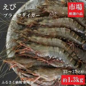 【ふるさと納税】【A3-034】魚市場厳選 ブラックタイガー(有頭海老)