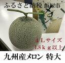 【ふるさと納税】九州産マスクメロン 特大サイズ1玉(温室)※着日はご指定いただけません