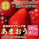 【ふるさと納税】【先行予約】福岡県産あまおう285g×4P。