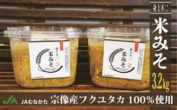 【ふるさと納税】M1505_JAむなかた特製 無添加本格米味噌3.2kg