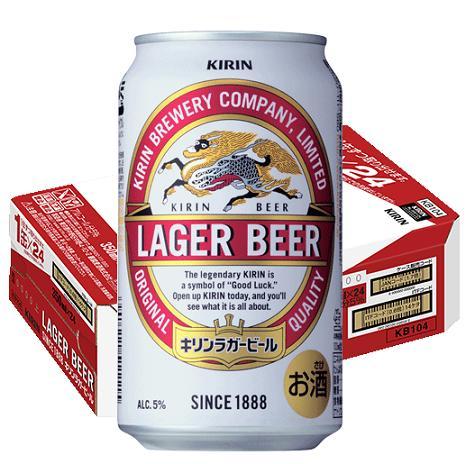 【ふるさと納税】A346 キリンラガービール 350ml缶4ケース【福岡工場製造】
