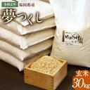 【ふるさと納税】令和元年 福岡県産 夢つくし 玄米 30kg...