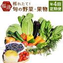 【ふるさと納税】【年4回定期便】穫れたて! 季節の野菜・果物...