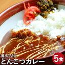 【ふるさと納税】博多名物 とんこつカレー とんこつスープ付き...