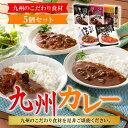 【ふるさと納税】九州のこだわり食材 九州カレー 5個セット 送料無料 ...