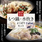 【ふるさと納税】【送料無料】博多若杉もつ鍋・水炊きよくばりセット