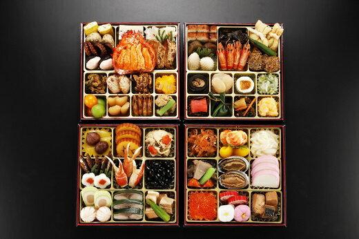 【ふるさと納税】日本料理てら岡・おせち/博多『寿』与段重+博多水炊きセット.JD02