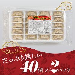 【ふるさと納税】福岡・博多の味『博多一口餃子』80個入(40個入×2P) ギョーザ 焼くだけ 簡単 一口サイズ 食べやすい ラーメン店 .Z100 画像1